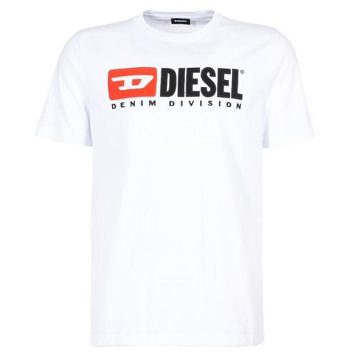 textil Hombre camisetas manga corta Diesel T JUST DIVISION Blanco