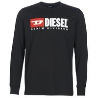 textil Hombre Camisetas manga larga Diesel T JUST LS DIVISION Negro