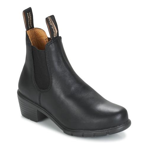 Zapatos Mujer Botas de caña baja Blundstone WOMEN'S HEEL BOOT Negro