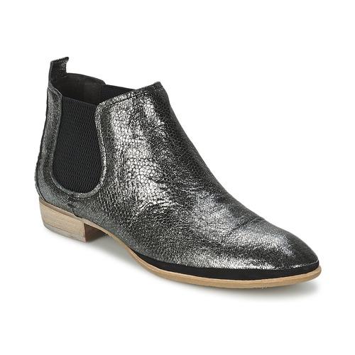 Zapatos Mujer Botas de caña baja Un Matin d'Ete TOBAGO Negro / Plata