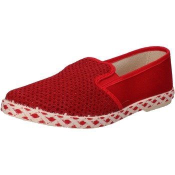 Zapatos Hombre Slip on Ceffenero CAFFEnegro slip on rojo lona AE159 rojo