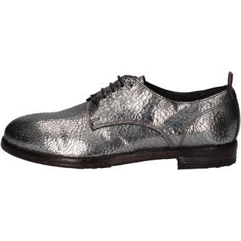 Zapatos Mujer Derbie Moma elegantes plata cuero AE200 plata