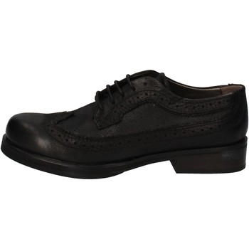 Zapatos Mujer Derbie Crime London elegantes negro cuero AE323 negro