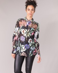 textil Mujer camisas Guess CLOUIS Negro / Multicolor