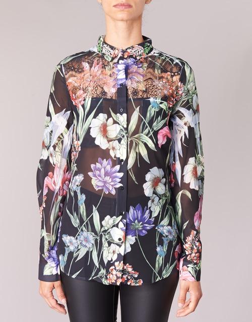 Mujer Guess Camisas Textil NegroMulticolor Clouis 54jq3LAR