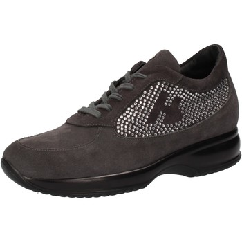 Zapatos Mujer Zapatillas bajas Hornet Botticelli sneakers gris gamuza strass AE480 gris
