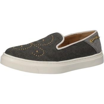 Zapatos Mujer Slip on Braccialini slip on gris textil borchie AE545 gris