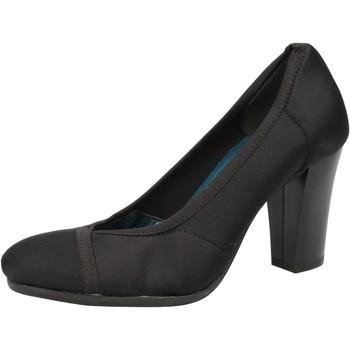 Zapatos Mujer Zapatos de tacón Keys de salón negro textil AE601 negro