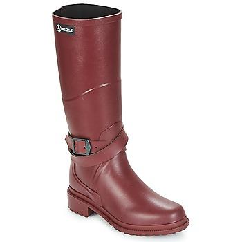 Zapatos Mujer Botas de agua Aigle MACADAMES Burdeo