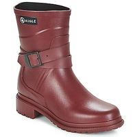 Zapatos Mujer Botas de agua Aigle MACADAMES MID Burdeo