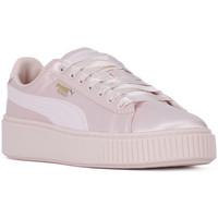 Zapatos Mujer Zapatillas bajas Puma BASKET PLATFORM TWEEN JR Rosa