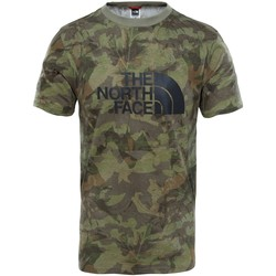 textil Hombre camisetas manga corta The North Face M S/S Easy Tee Eng. Green Camiseta, Hombre VERDE