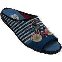 Zapatos Mujer Pantuflas Calzamur Chancla mujer estar por casa azul