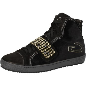 Zapatos Mujer Zapatillas altas Guardiani sneakers negro velluto gamuza strass AE827 negro