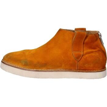 Zapatos Mujer Botas de caña baja Moma botines amarillo gamuza AE995 amarillo