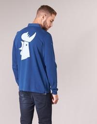 textil Hombre polos manga larga Serge Blanco POLO France Azul