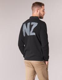 textil Hombre polos manga larga Serge Blanco POLO NEW ZEALAND Negro