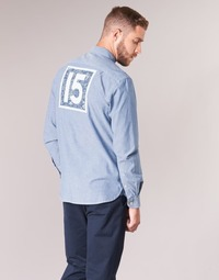 textil Hombre camisas manga larga Serge Blanco 15 DOS Azul