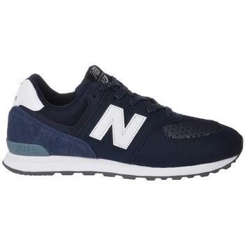 Zapatos Niños Zapatillas bajas New Balance GC574D4 Blanco, Azul marino