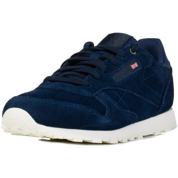 Zapatos Niños Zapatillas bajas Reebok Sport CL Leather Mcc Azul marino