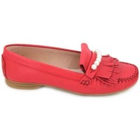 Zapatos Mujer Derbie & Richelieu Sabrinas 89001 Mocasines de Mujer Rojo