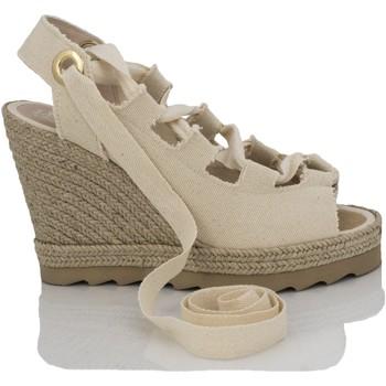 Zapatos Mujer Sandalias Mtbali Sandalia Alpargata con cuña, Mujer - Modelo Ibiza Beige beige