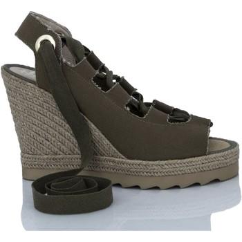 Zapatos Mujer Sandalias Mtbali Sandalia Alpargata con cuña, Mujer - Modelo Ibiza Kaki verde
