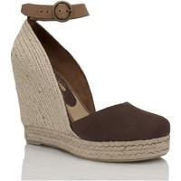 Zapatos Mujer Sandalias Mtbali Alpargata Sandalia con Cuña - Mujer - Modelo Altea Marrón marrón
