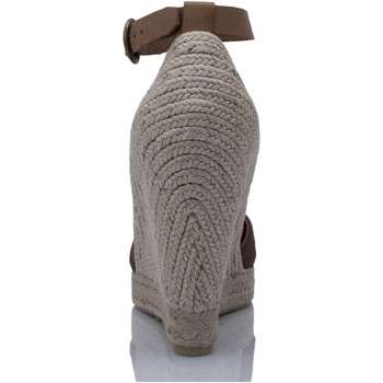 Mtbali Alpargata Sandalia con Cuña - Mujer - Modelo Altea Marrón marrón
