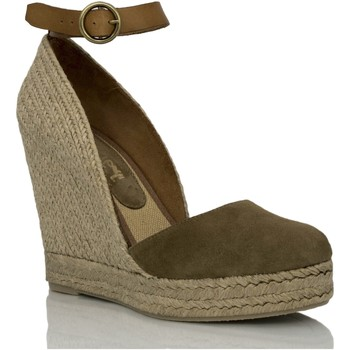 Zapatos Mujer Sandalias Mtbali Alpargata Sandalia con Cuña - Mujer Modelo Altea Vintage Kaki verde