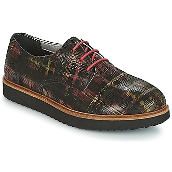 Zapatos Mujer Derbie Ippon Vintage JAMES SCOTTISH Negro / Rojo