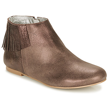 Zapatos Mujer Botas de caña baja Ippon Vintage DOLLY MAGIC Beige / Oro