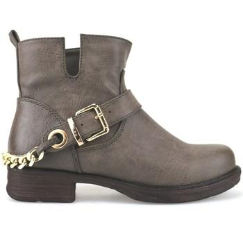 Zapatos Mujer Low boots Francescomilano botines marrón cuero AJ227 marrón