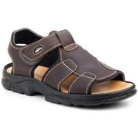 Zapatos Hombre Sandalias Morxiva Shoes Sandalia de hombre de piel by Morxiva Marrón