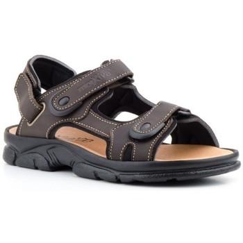 Zapatos Hombre Sandalias de deporte Morxiva Shoes Sandalias de hombre de piel by Morxiva Marron