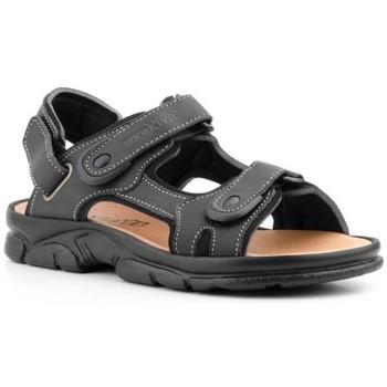 Zapatos Hombre Sandalias Morxiva Shoes Sandalia de hombre de piel by Morxiva Negro