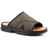 Zapatos Hombre Zuecos (Mules) Morxiva Shoes Sandalias de hombre de piel by Morxiva Marron