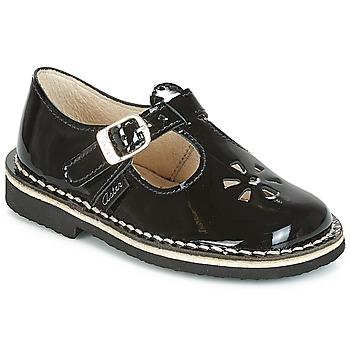Zapatos Niña Bailarinas-manoletinas Aster DINGO Negro / Barniz