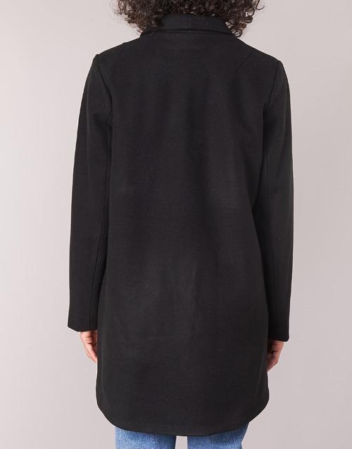 Mujer Vicamdon Negro Abrigos Textil Vila rodxBeC