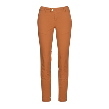 textil Mujer pantalones chinos Les Petites Bombes VAWO Cognac