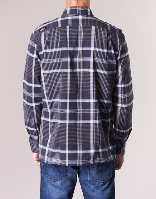 Campo Hombre Marino Oxbow Larga Textil Manga Camisas X0wO8kNnP