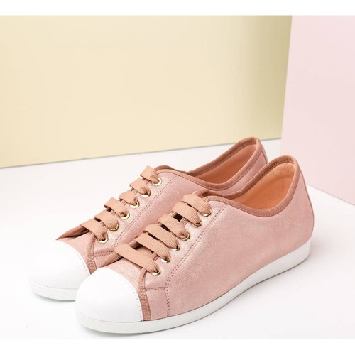 Zapatos casuales salvajes Zapatos especiales Unisa Sapatilha Falin Rosa - Zapatos Deportivas Moda Mujer