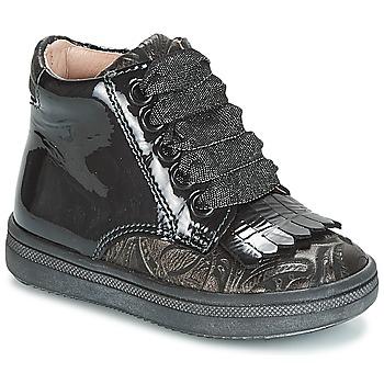 Zapatos Niña Zapatillas altas Acebo's DOLAGIRI Negro / Plata
