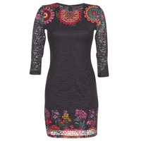 textil Mujer vestidos cortos Desigual DARINA Negro