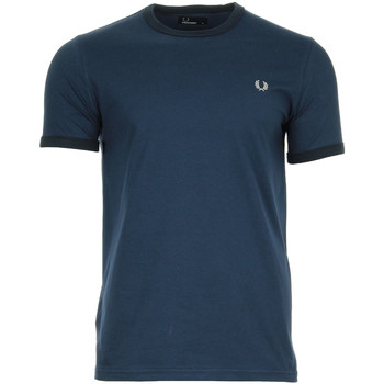 textil Hombre camisetas manga corta Fred Perry Ringer T-Shirt