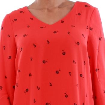 Vero Moda 10191185 VMSISSY 3/4 MINI DRESS D2 LCS FLAME SCARLET Rojo