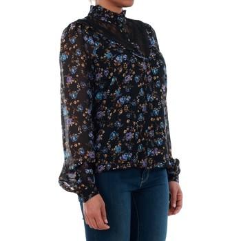 Vero Moda 10189755 VMROSE LACE L/S SHIRT BLACK/ROSE PRINT BLUE Azul