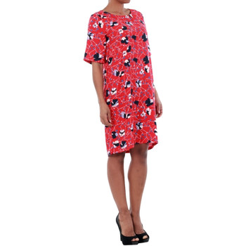 Vero Moda 10197062 VMISOLDE GABBY 2/4 DRESS D2-1 LYCHEE/ISOLDE PRI Rojo