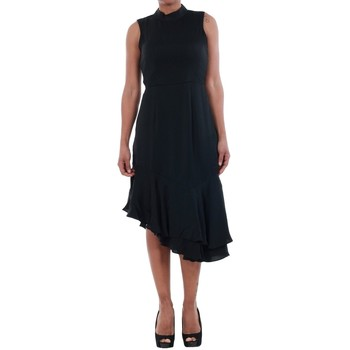 textil Mujer Vestidos Vero Moda 10193254 VMKYLIE SL FRILL KNEE DRESS BLACK Negro