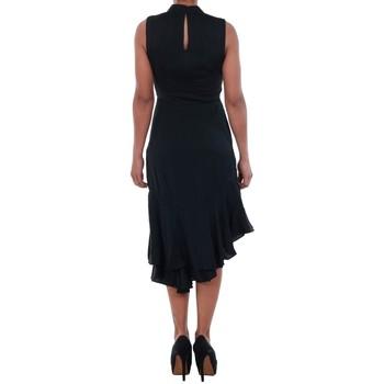 Vero Moda 10193254 VMKYLIE SL FRILL KNEE DRESS BLACK Negro